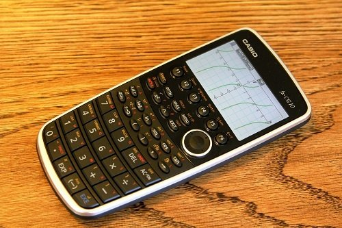 Casio Prizm Graphing Calculator On Table